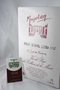 MERLOT MUJOLAN BIB 5 LITRES IG PAYS DE L'HERAULT